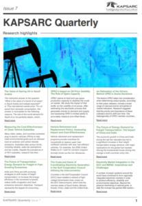 KAPSARC Quarterly: Issue 7