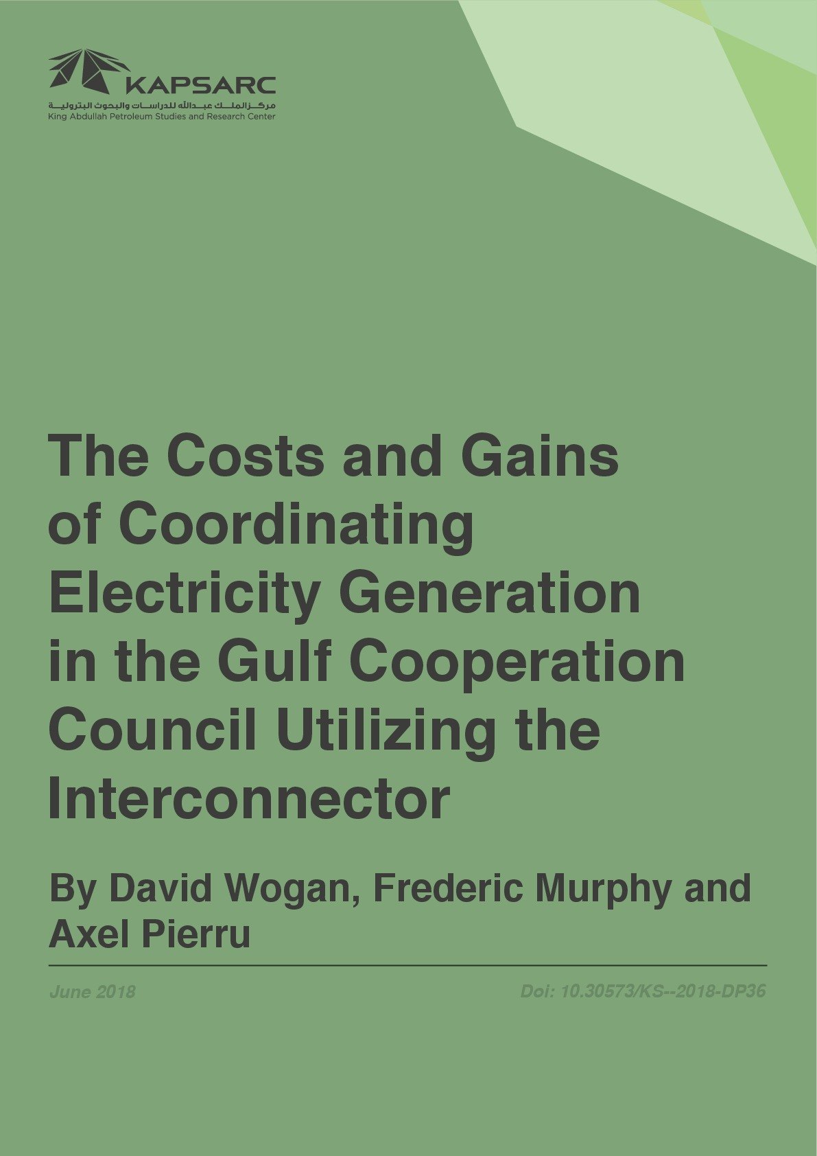 The Costs and Gains of Coordinating Electricity Generation in the Gulf Cooperation Council Utilizing the Interconnector