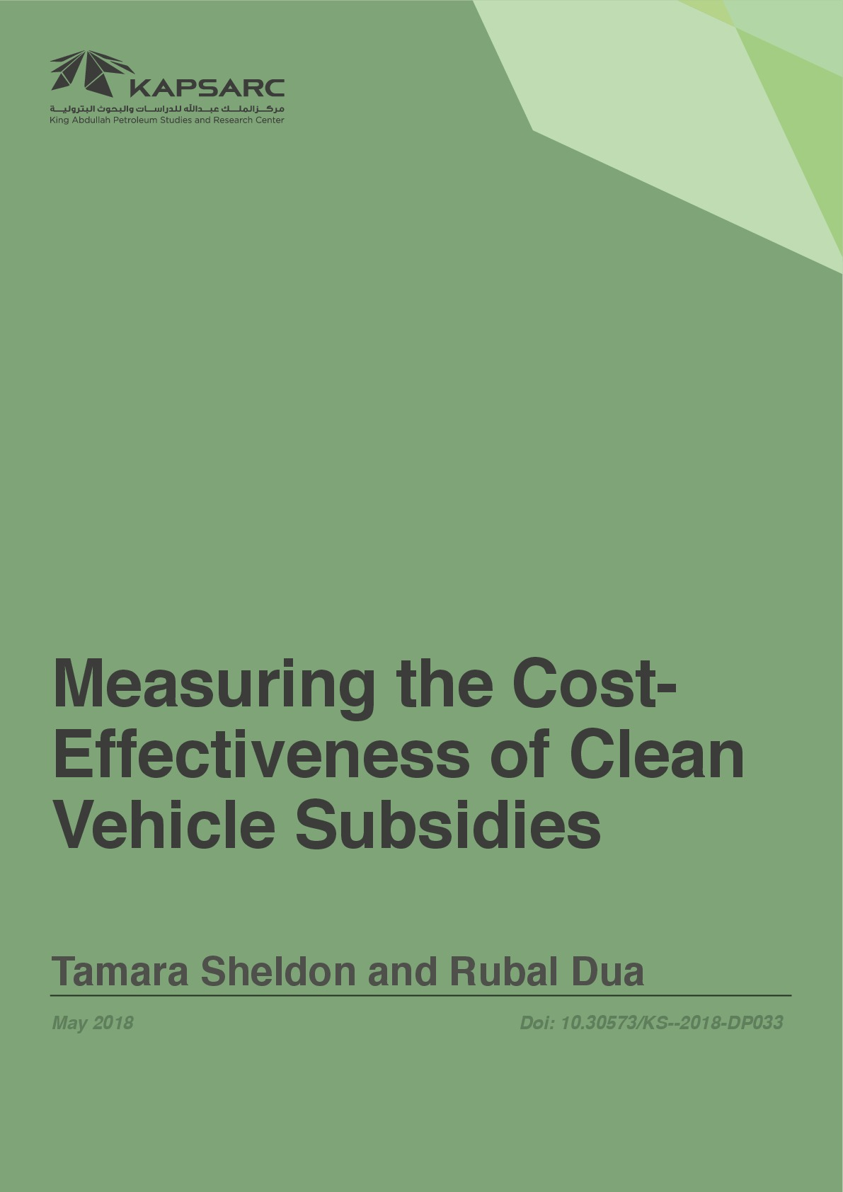 Measuring the Cost-Effectiveness of Clean Vehicle Subsidies