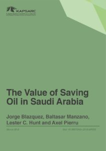 The Value of Saving Oil in Saudi Arabia