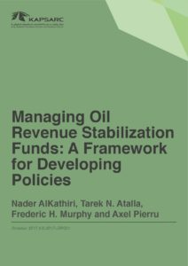 Managing Oil Revenue Stabilization Funds: A Framework for Developing Policies