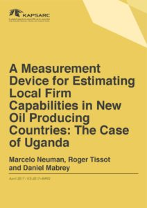 A Measurement Device for Estimating Local Firm Capabilities in New Oil Producing Countries: The Case of Uganda