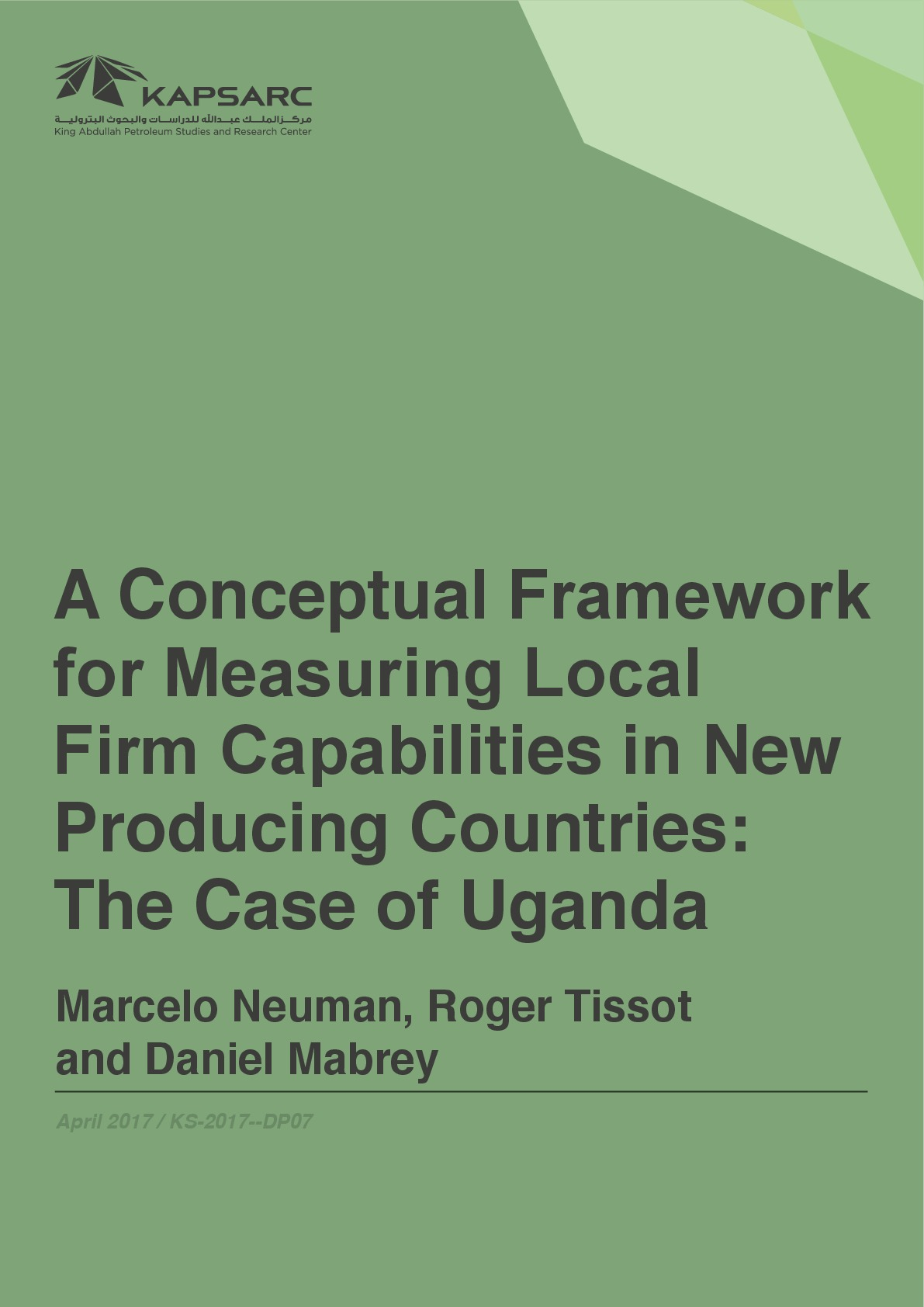 A Conceptual Framework for Measuring Local Firm Capabilities in New Producing Countries: The Case of Uganda