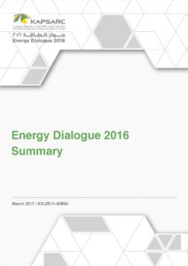 Energy Dialogue 2016 Summary