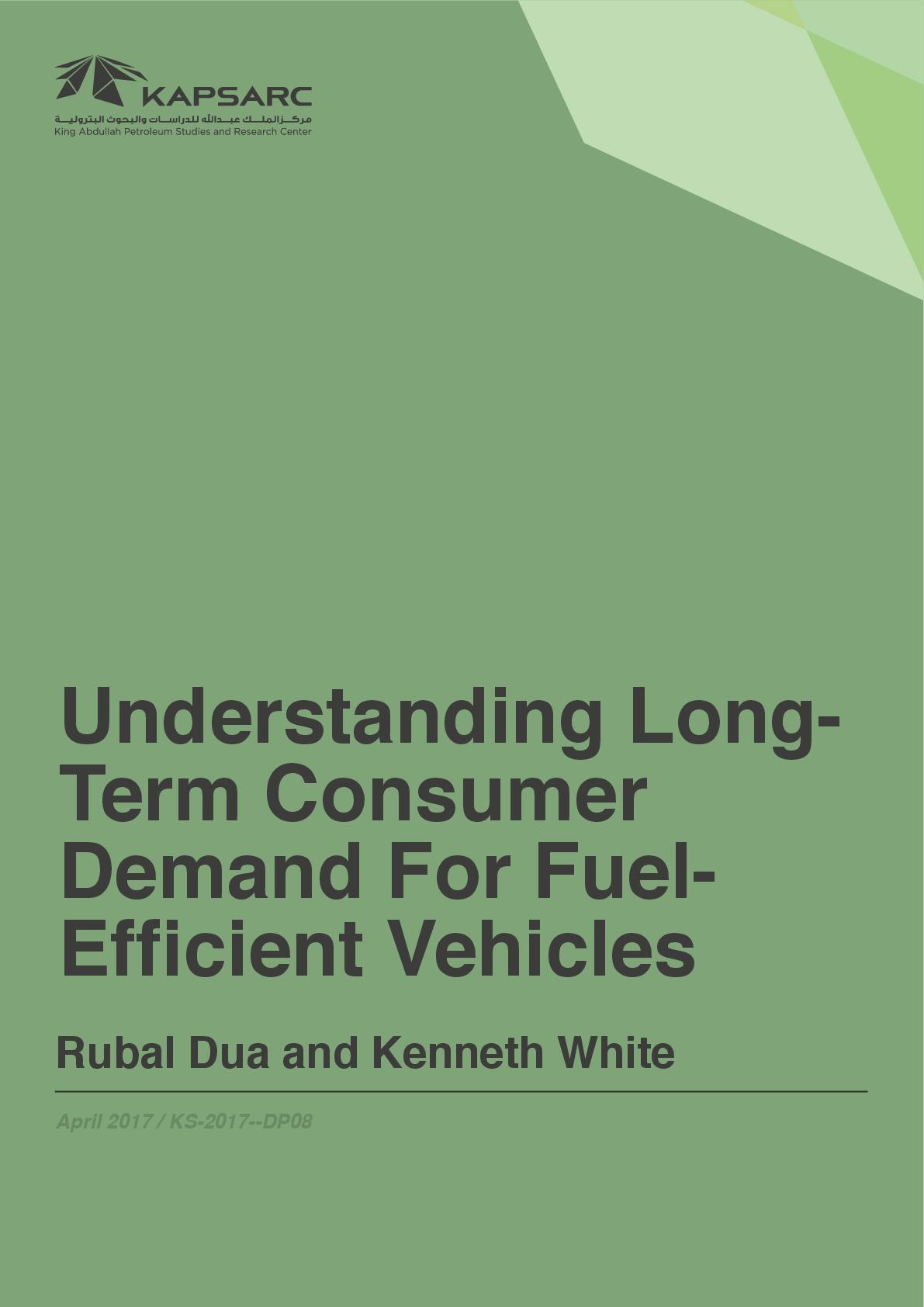 Understanding Long Term Consumer Demand For Fuel Efficient Vehicles
