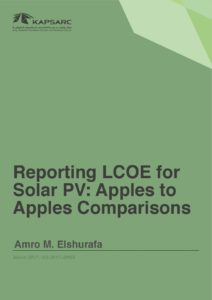 Reporting LCOE for Solar PV: Apples to Apples Comparisons
