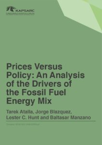 Prices Versus Policy: An Analysis of the Drivers of the Fossil Fuel Energy Mix
