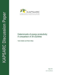 Determinants of energy productivity: A comparison of 39 countries