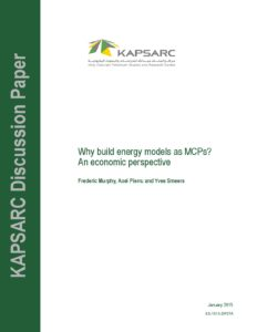 Why build energy models as MCPs? An economic perspective