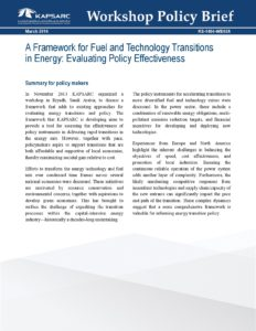 A Framework for Fuel and Technology Transitions in Energy: Evaluating Policy Effectiveness