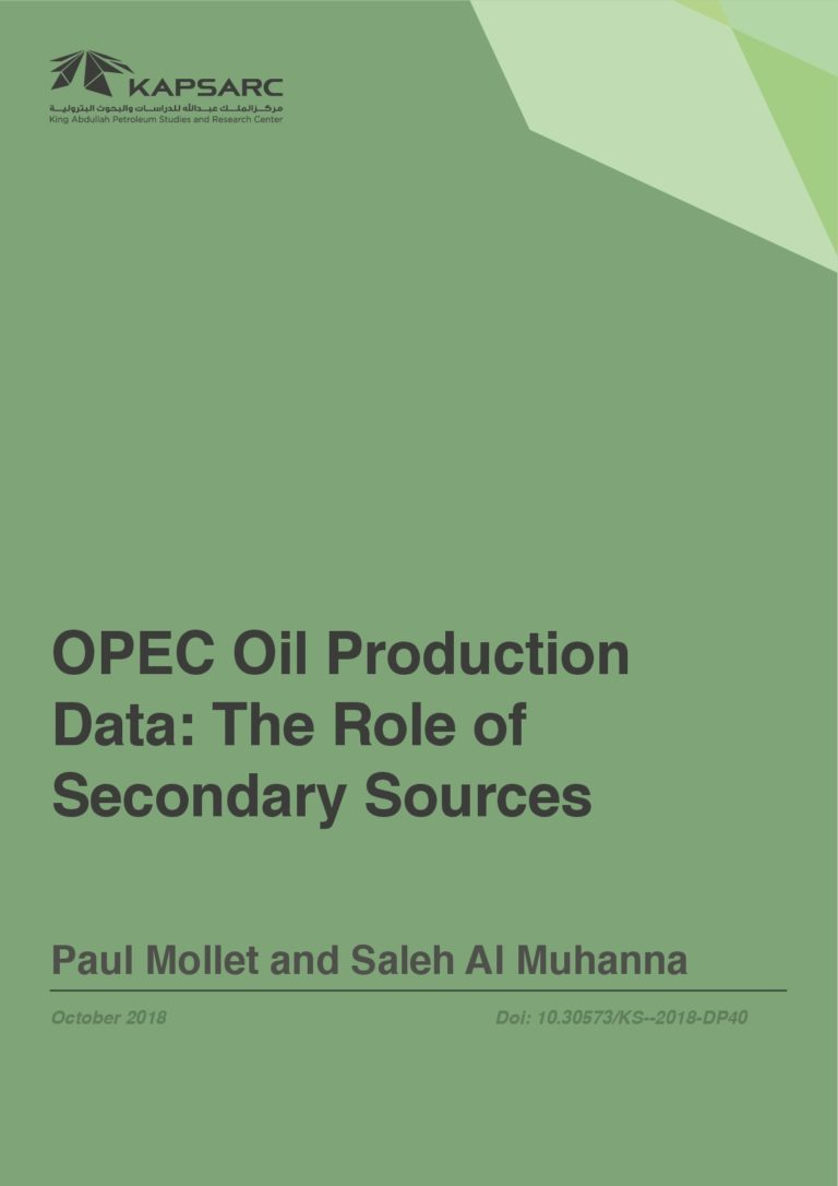 OPEC Oil Production Data: The Role of Secondary Sources