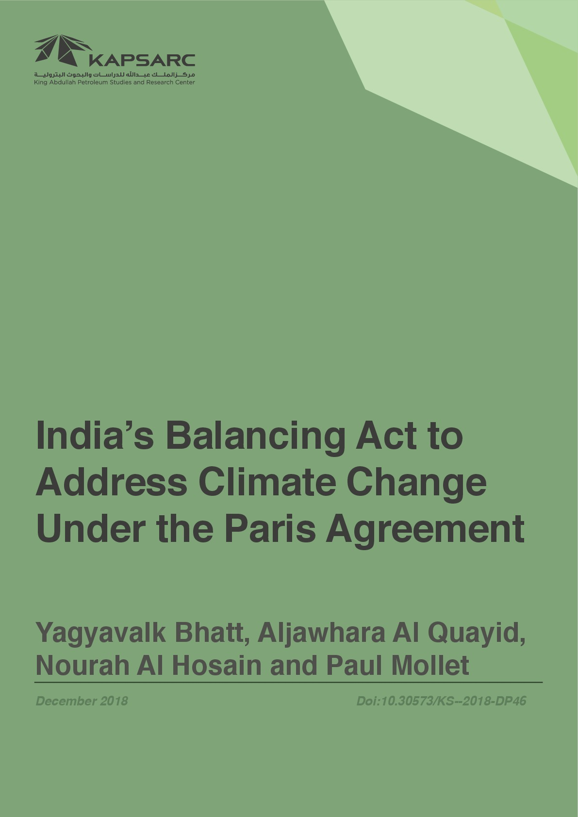 India's Balancing Act to Address Climate Change Under the Paris Agreement