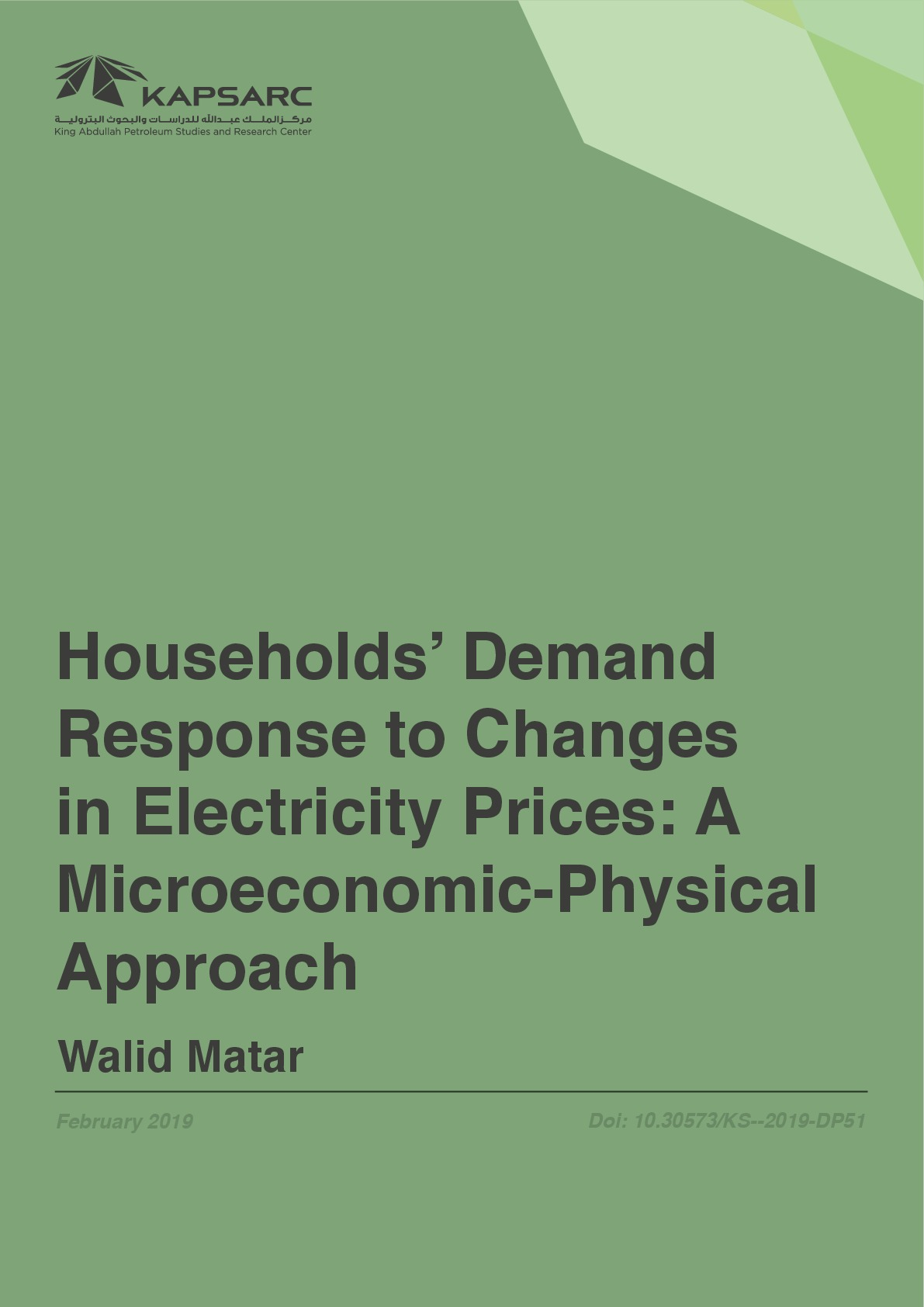 Households' Demand Response to Changes in Electricity Prices: A Microeconomic-Physical Approach
