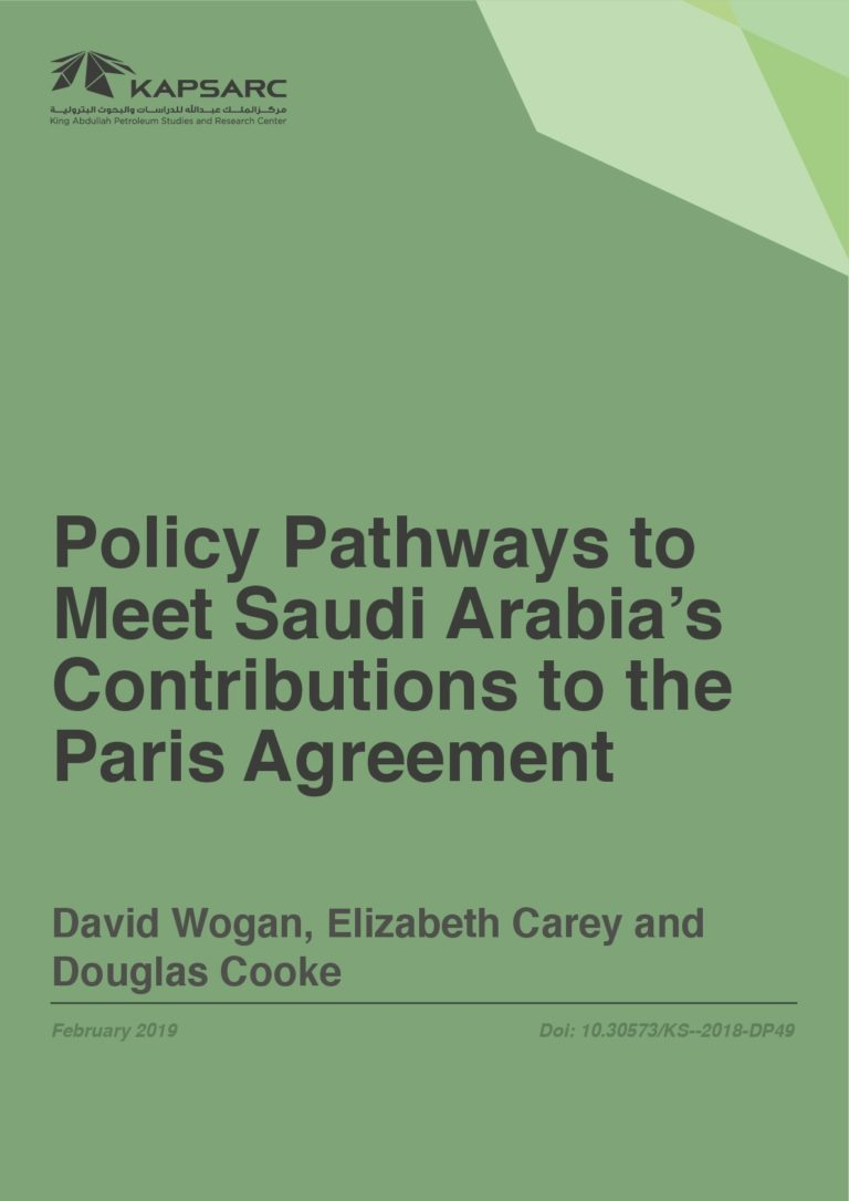 Policy Pathways to Meet Saudi Arabia's Contribution to the Paris Agreement
