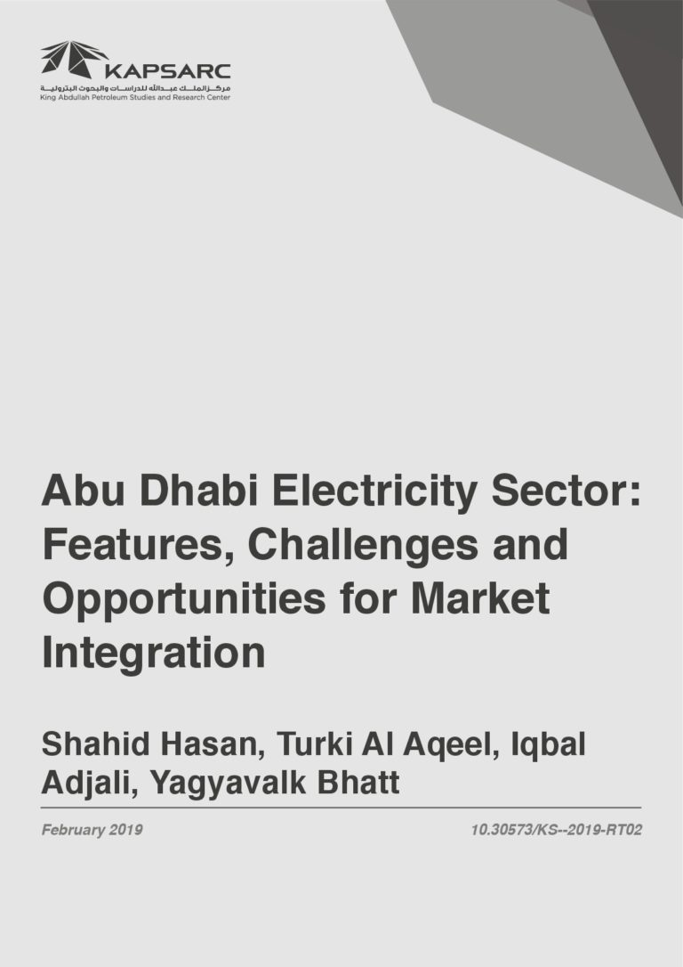 Abu Dhabi Electricity Sector – Features, Challenges and Opportunities for Market Integration