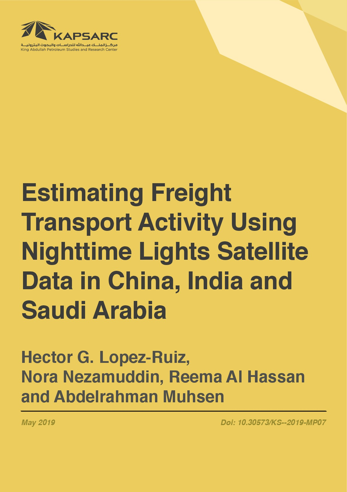 Estimating Freight Transport Activity Using Nighttime Lights