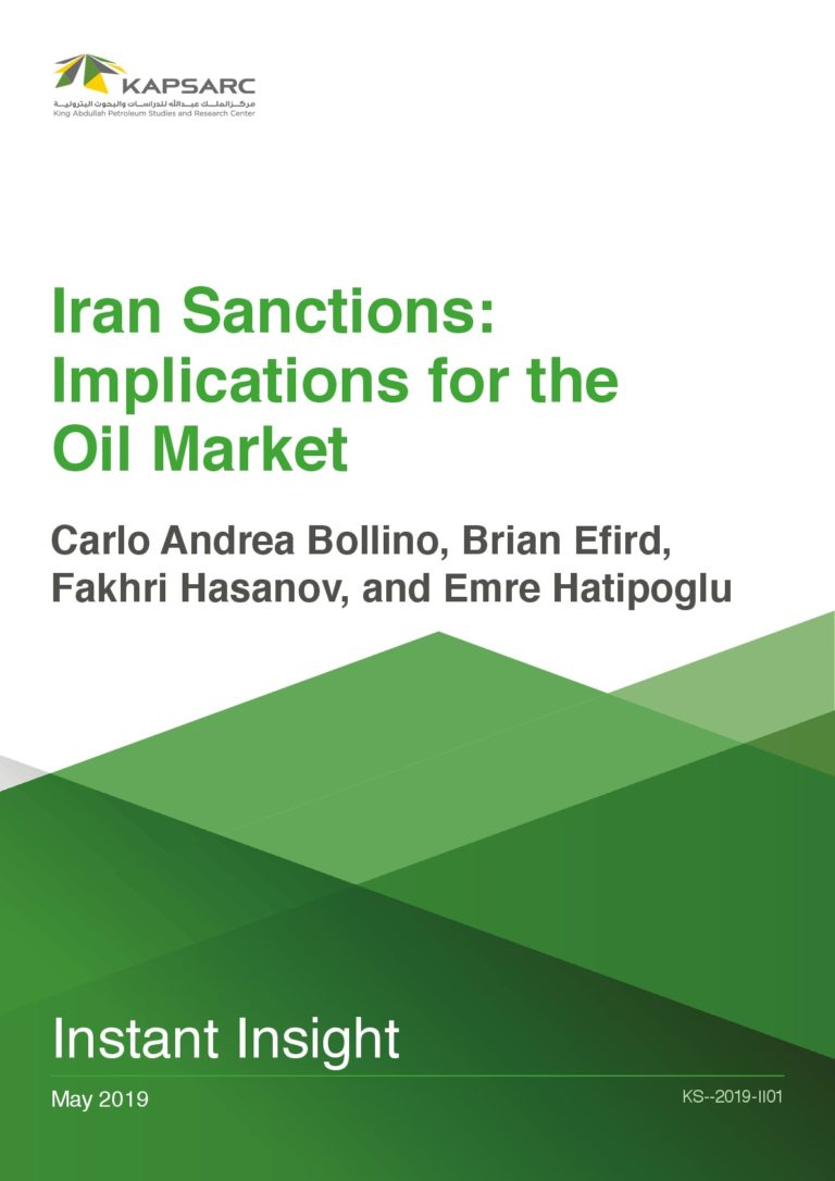 Iran Sanctions: Implications for the Oil Market