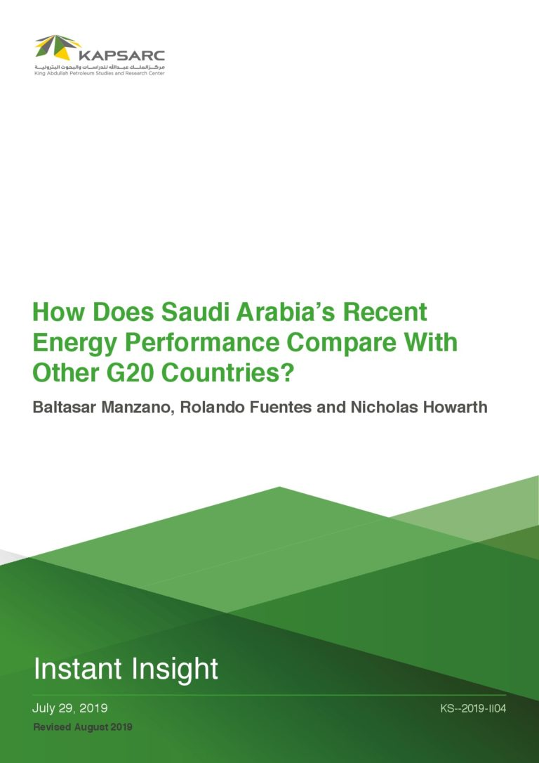 How does Saudi Arabia's recent energy performance compare with other G20 countries?