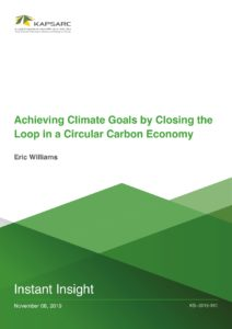 Achieving Climate Goals by Closing the Loop in a Circular Carbon Economy