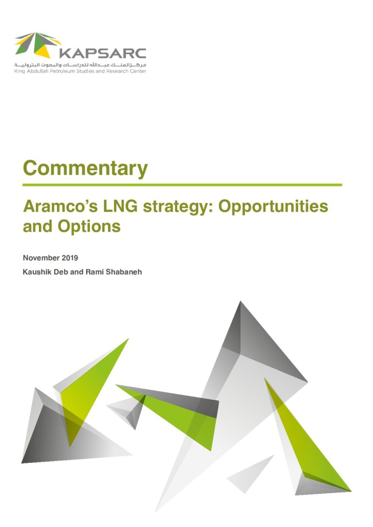 Aramco's LNG strategy: Opportunities and Options