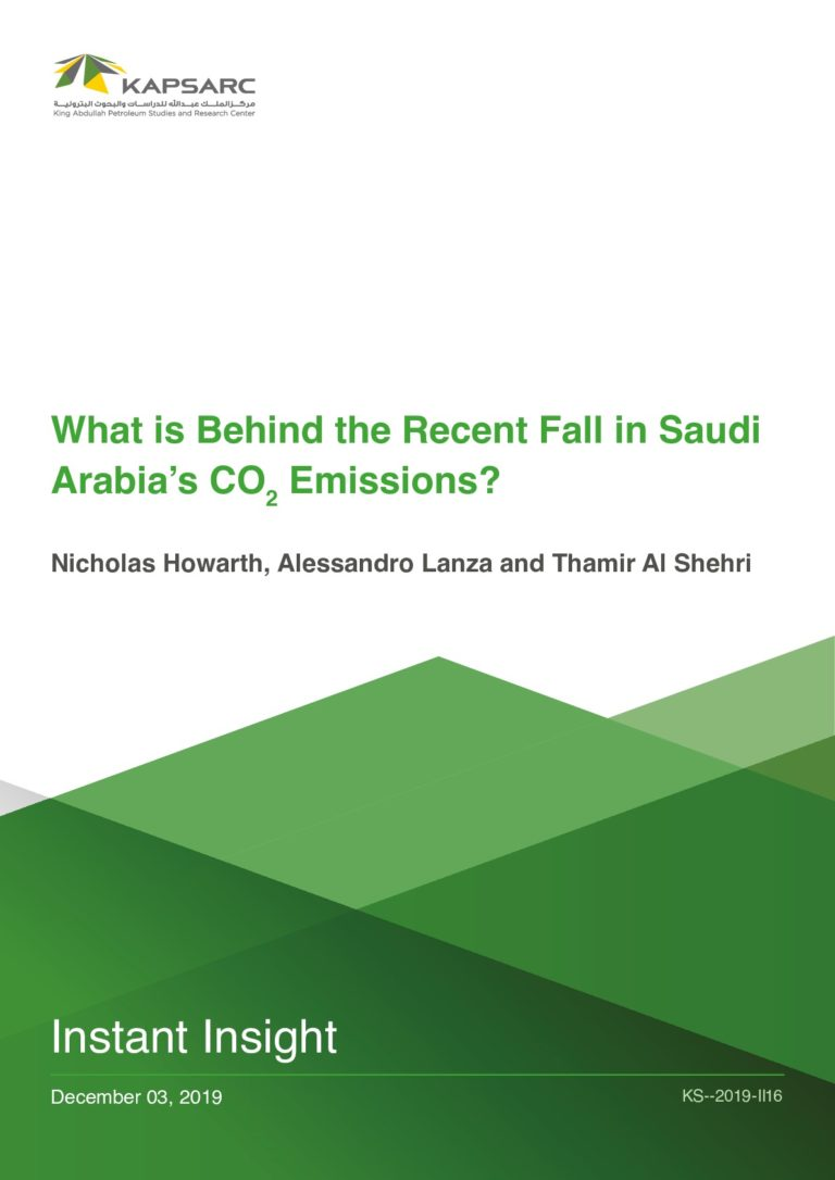 What is Behind the Recent Fall in Saudi Arabia's CO2 Emissions?