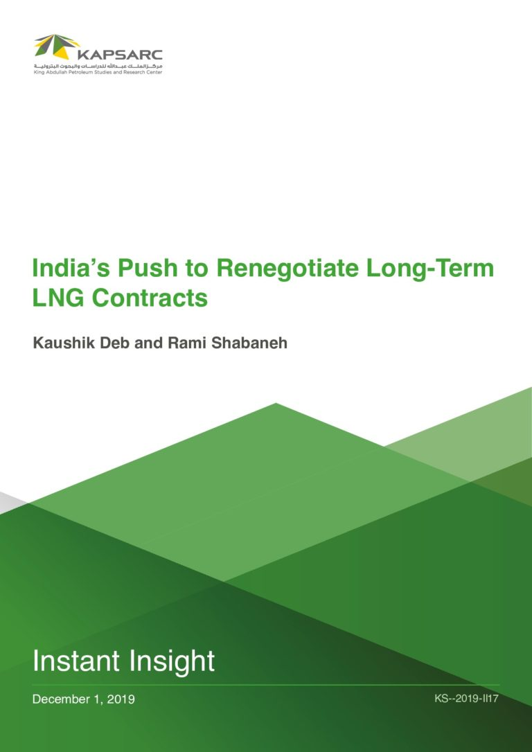 India's Push to Renegotiate Long-Term LNG Contracts