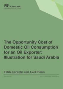 The Opportunity Cost of Domestic Oil Consumption for an Oil Exporter: Illustration…