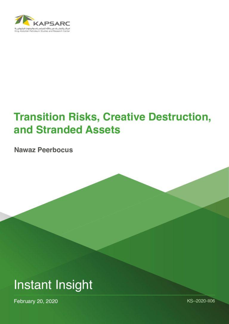 Transition Risks, Creative Destruction, and Stranded Assets