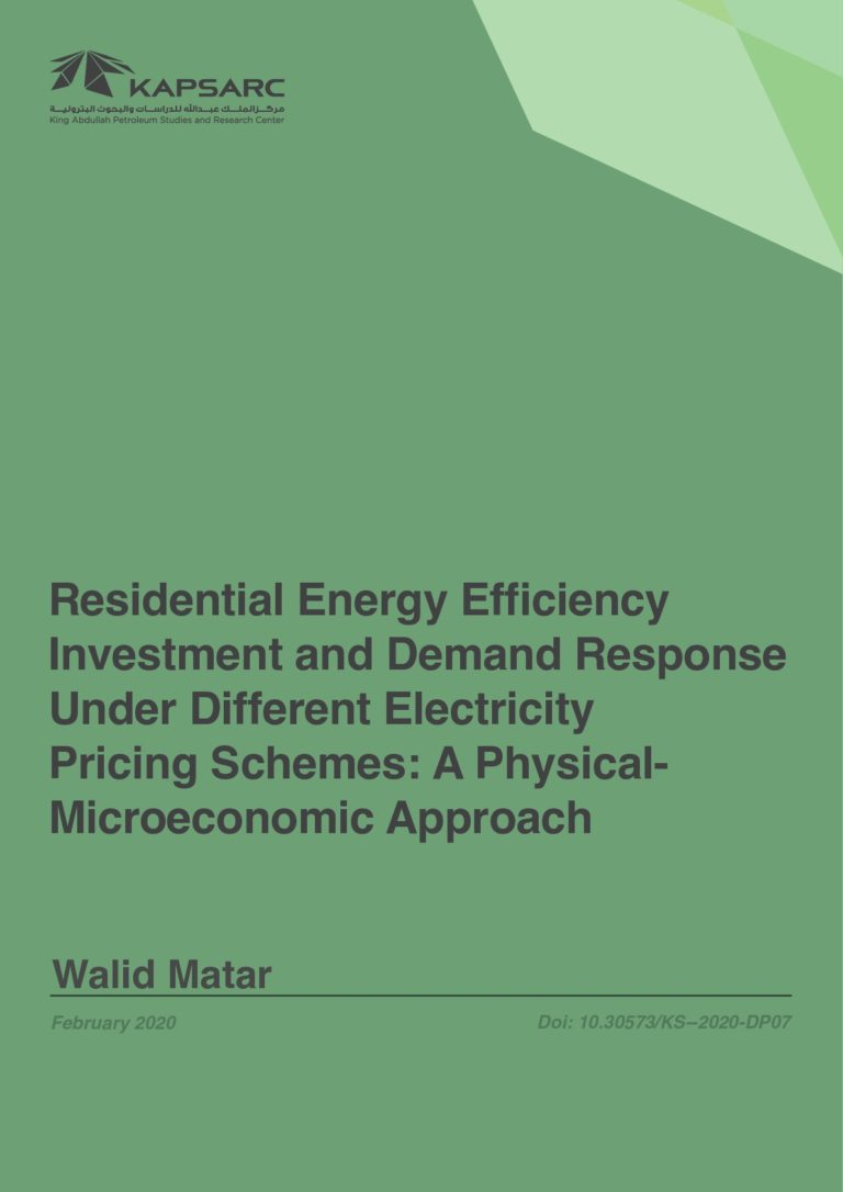 Residential Energy Efficiency Investment and Demand Response Under Different Electricity Pricing Schemes: A Physical- Microeconomic Approach