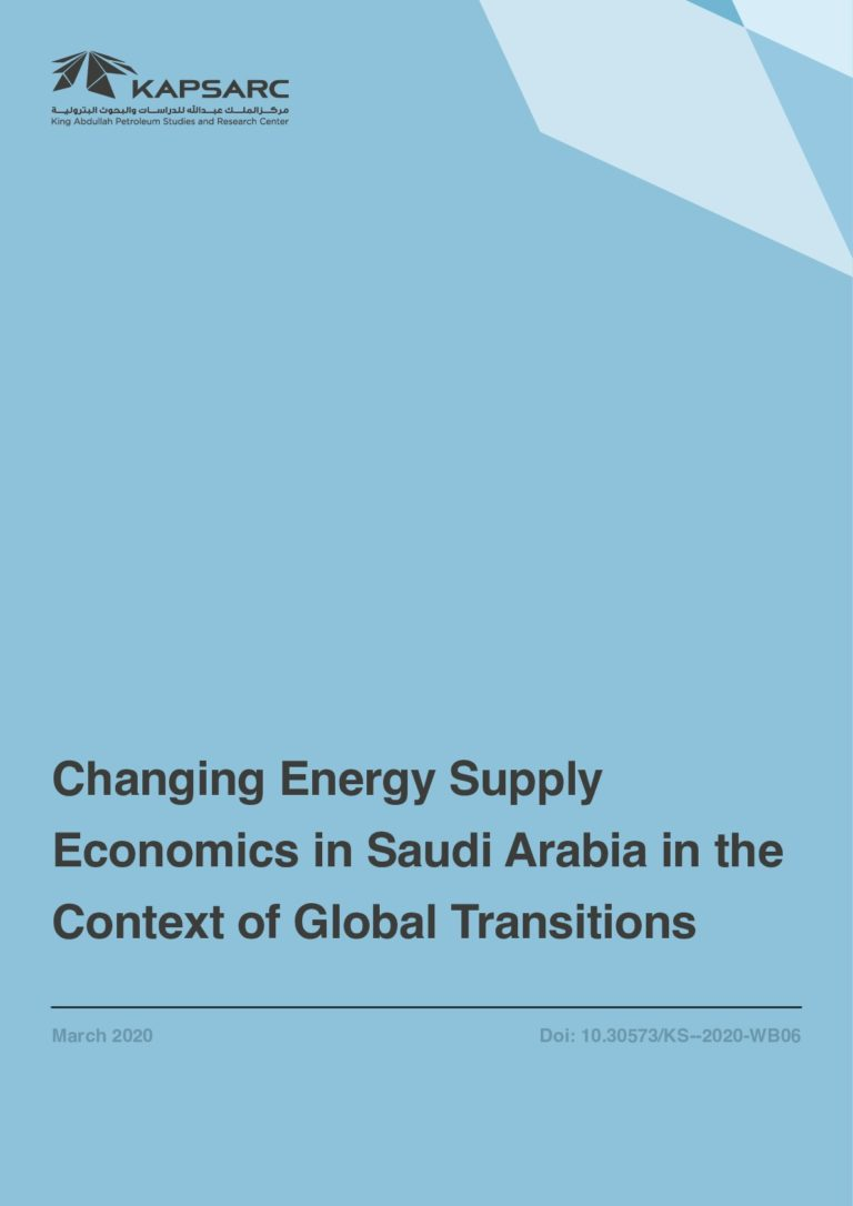 Changing Energy Supply Economics in Saudi Arabia in the Context of Global Transitions