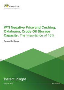 WTI Negative Price and Cushing, Oklahoma, Crude Oil Storage Capacity: The Importance of 15%