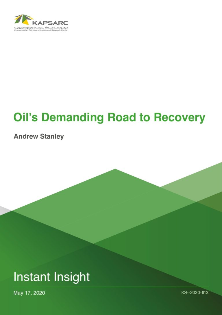 Oil's Demanding Road to Recovery