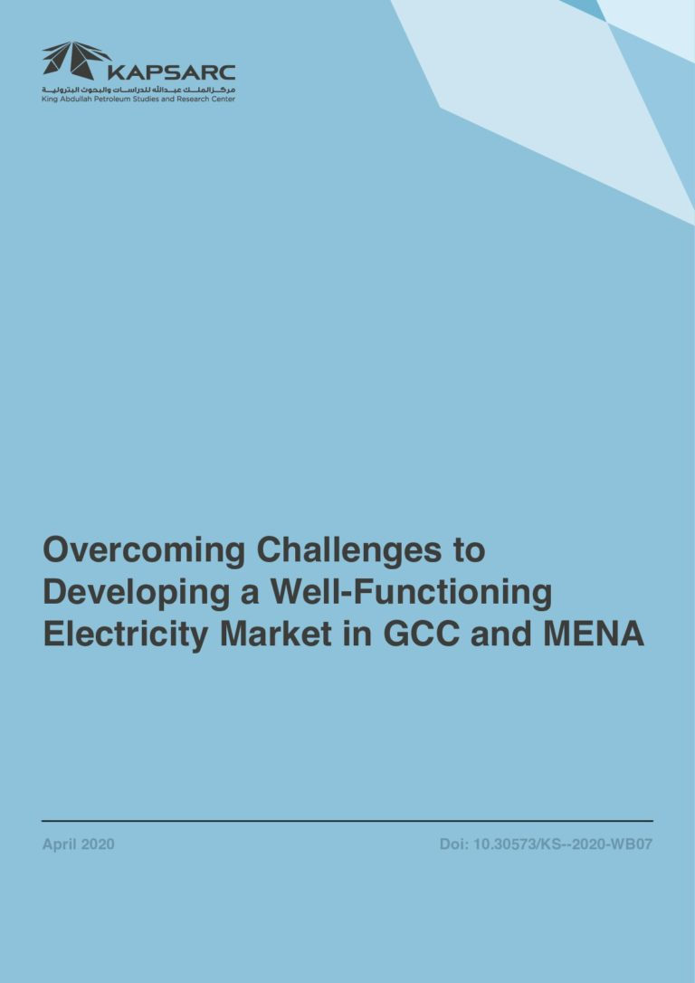 Overcoming Challenges to Developing a Well-Functioning Electricity Market in GCC and MENA