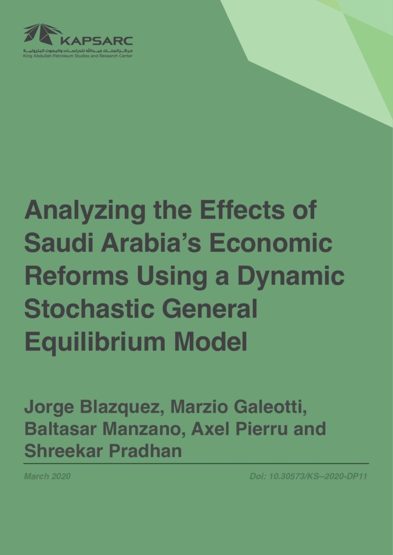 Analyzing the Effects of Saudi Arabia's Economic Reforms Using a Dynamic Stochastic General Equilibrium Model