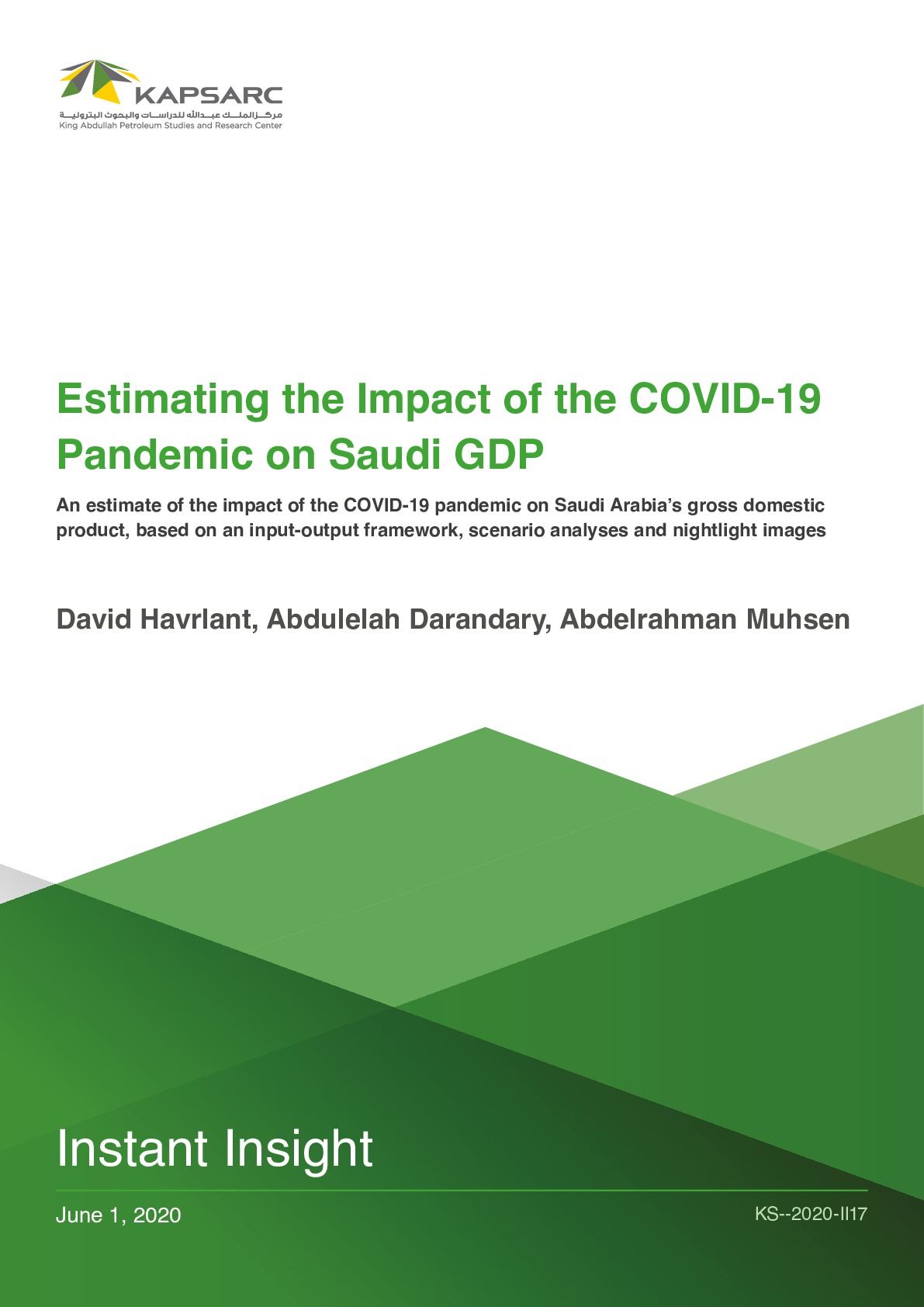 Estimating the Impact of the COVID-19 Pandemic on Saudi GDP