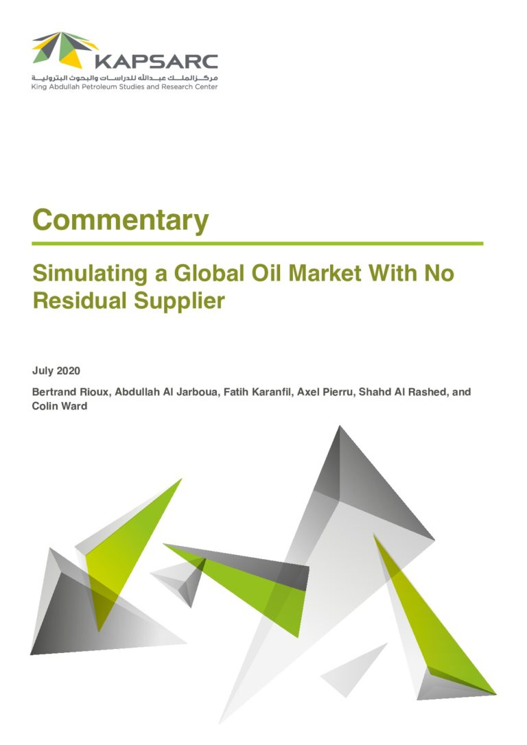 Simulating a Global Oil Market With No Residual Supplier