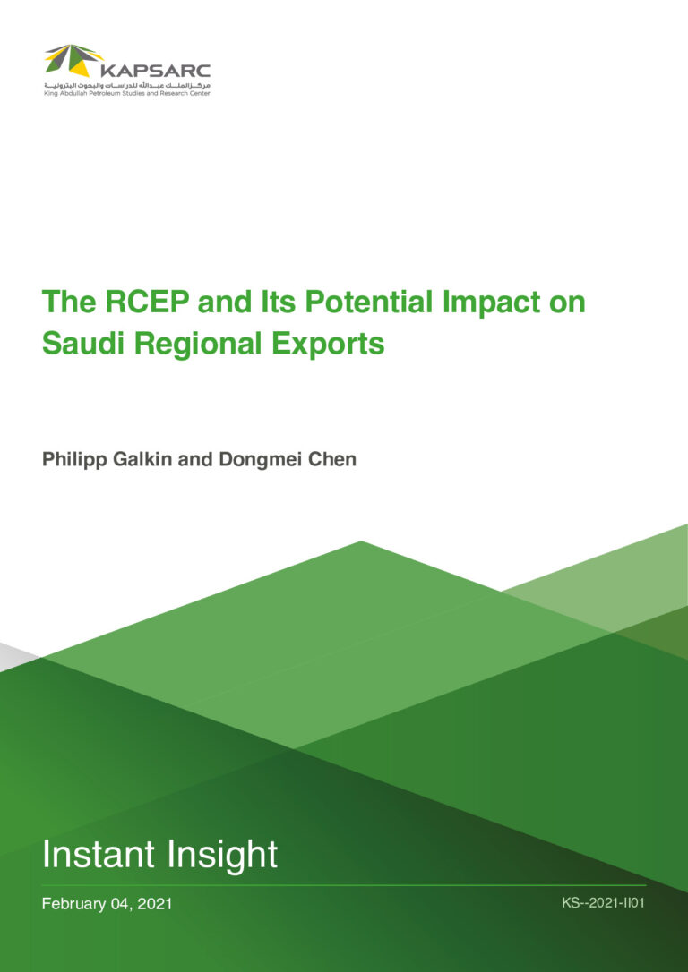 The RCEP and its Potential Impact on Saudi Regional Exports