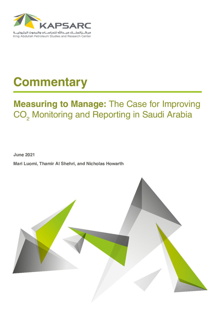 Measuring to Manage: The Case for Improving CO2 Monitoring and Reporting in Saudi Arabia