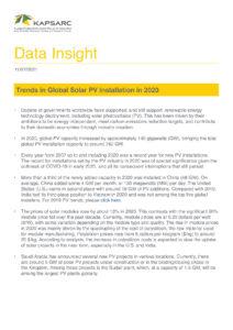 Trends in Global Solar PV Installation in 2020