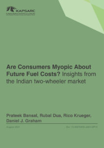 Are Consumers Myopic About Future Fuel Costs? Insights from the Indian two-wheeler market