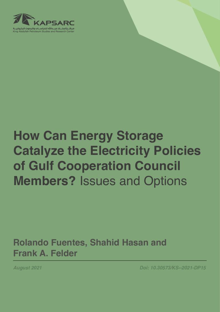 How Can Energy Storage Catalyze the Electricity Policies of Gulf Cooperation Council Members? Issues and Options