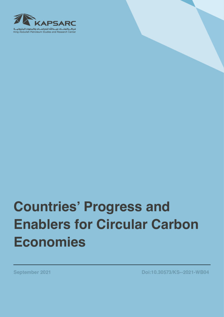 Countries' Progress and Enablers for Circular Carbon Economies